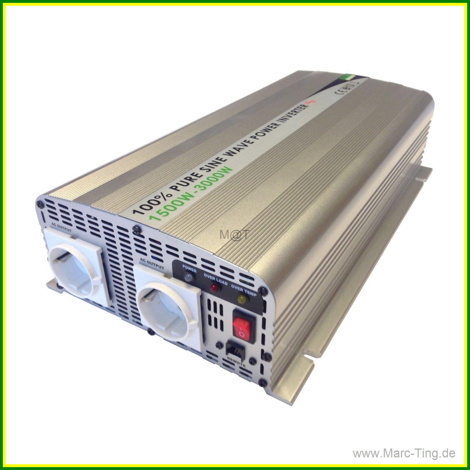 Marc@Ting Green Energy - 1500W 12V REINER SINUS WECHSELRICHTER MIT + ...